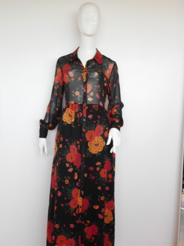 Heart mind Long dress/ flower