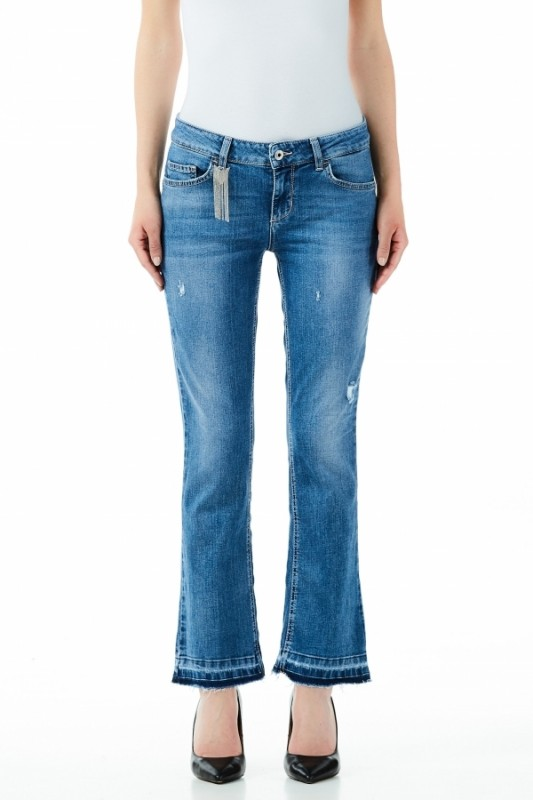 Liu jo jeans blue denim one Fly regular waist